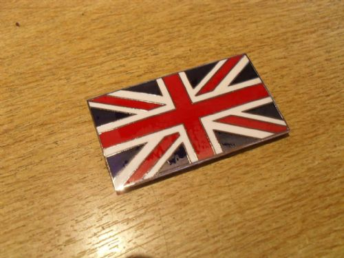 Badge, Union Jack, Enamel, 50mm x 30mm